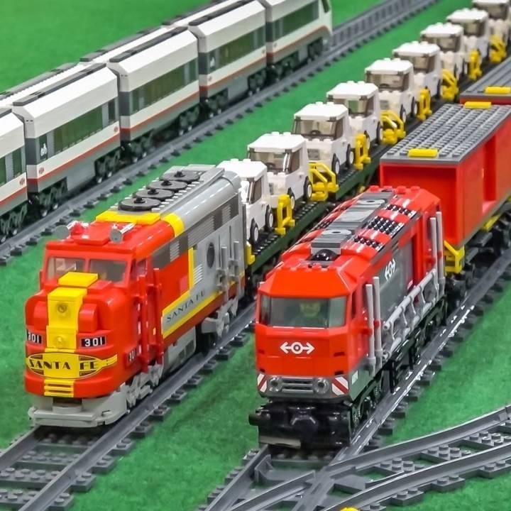 virmuze exhibit Lego Trains logo main