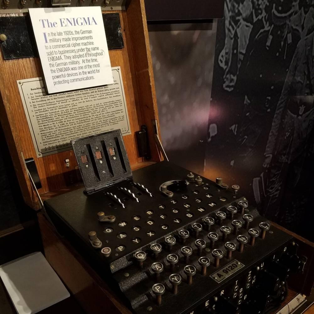virmuze exhibit Enigma logo main
