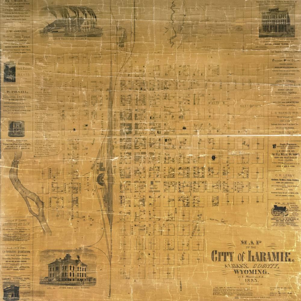 virmuze exhibit A History of Laramie Through its Maps logo main