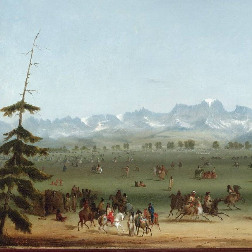 virmuze exhibit A Fur Trade Diary, Painted By Alfred Jacob Miller logo main