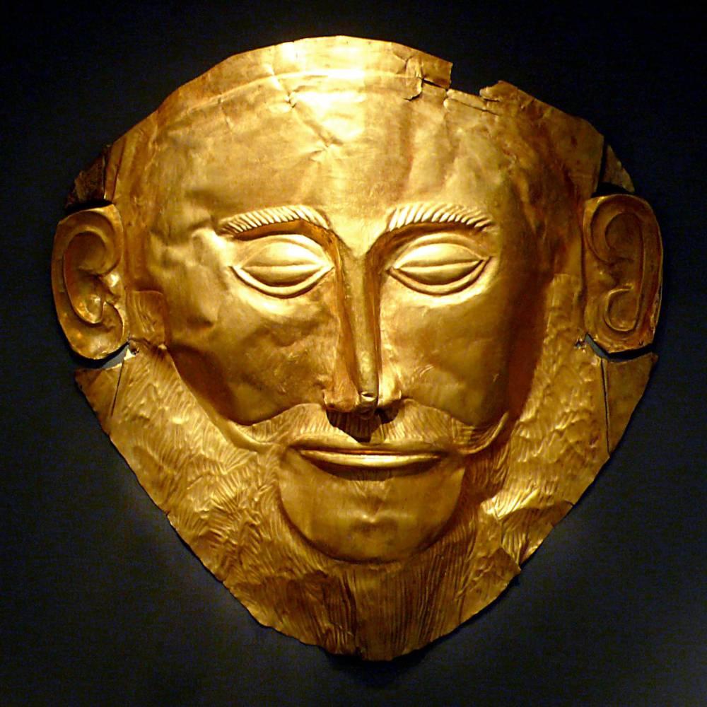 virmuze exhibit Agamemnon Mask logo main