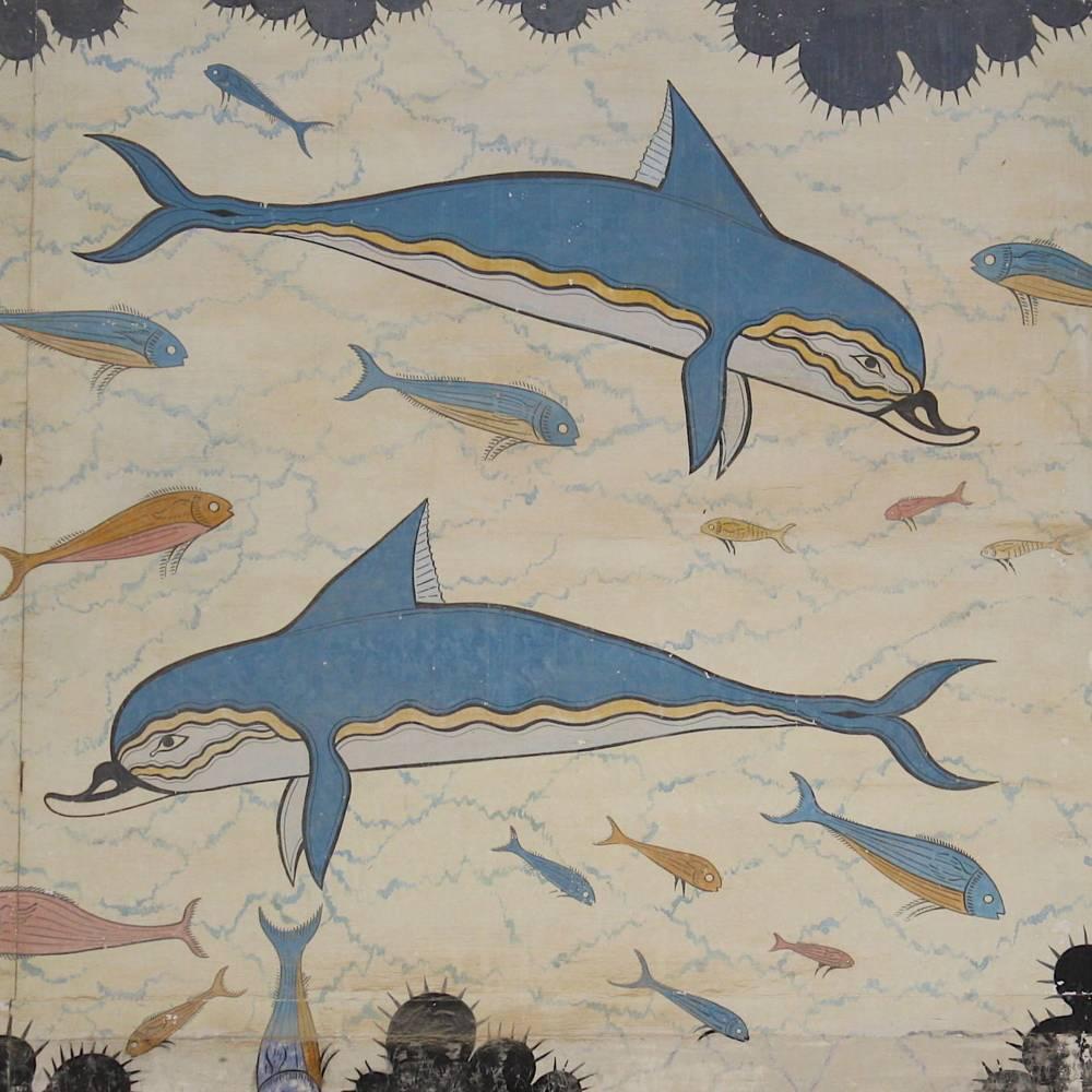 virmuze exhibit Minoan Dolphin Fresco logo main