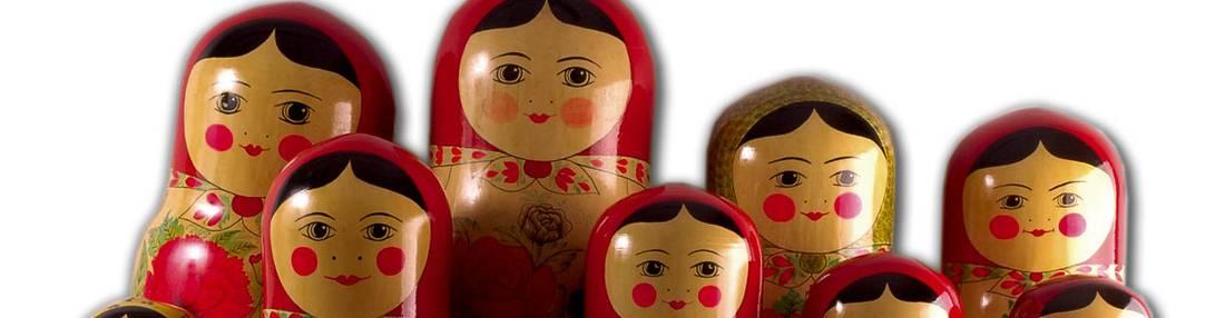 virmuze exhibit Russian Nesting Dolls logo main banner
