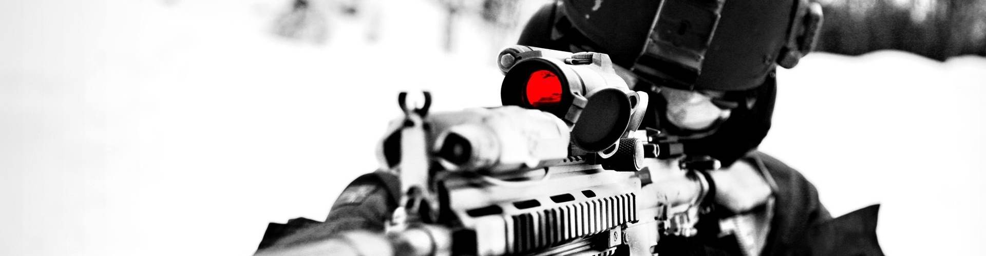 virmuze exhibit Assault Rifles logo main banner