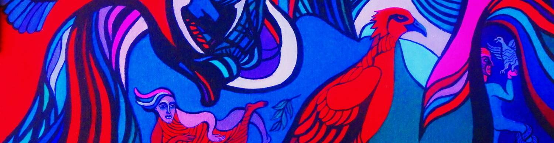 virmuze exhibit Fantasy, metaphysics, visionary, meditation logo main banner