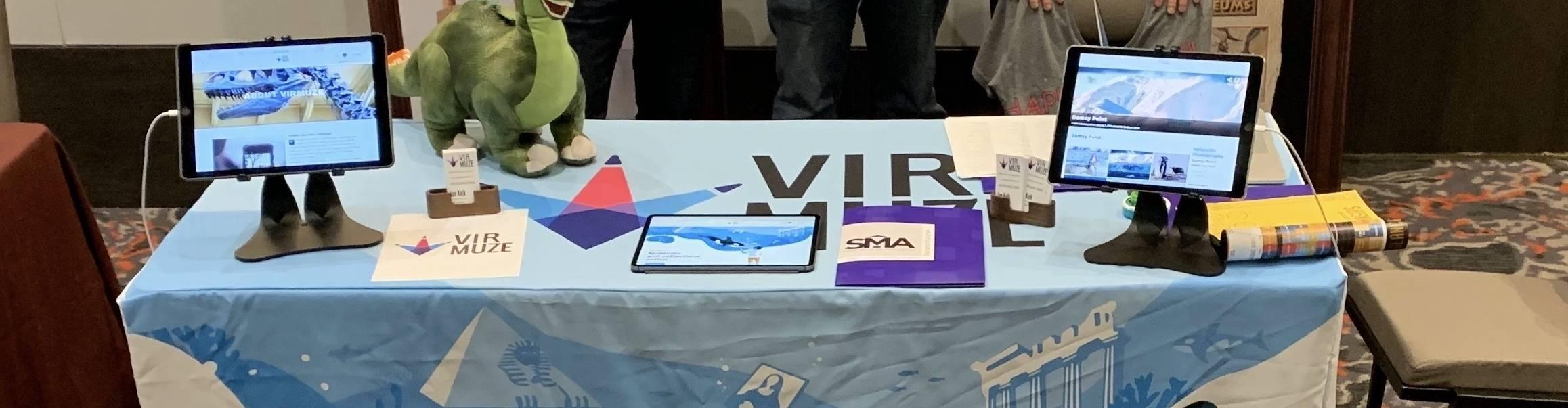 virmuze exhibit Small Museum Association 2019 Conference logo main banner