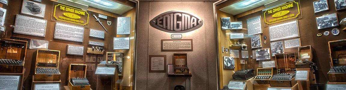 virmuze exhibit The German ENIGMA logo main banner