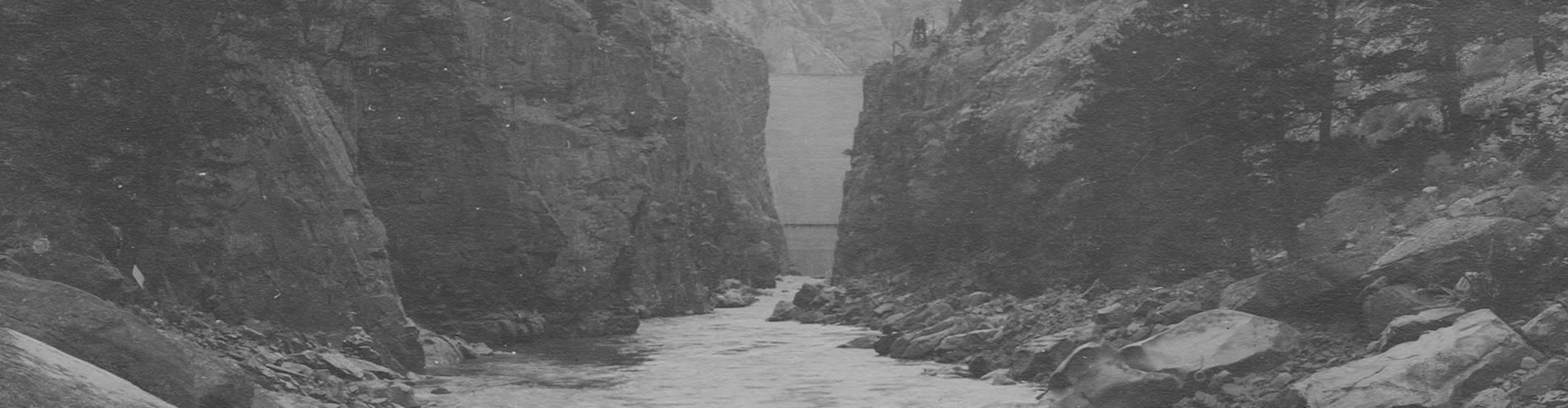 virmuze exhibit Buffalo Bill Dam Construction and History logo main banner