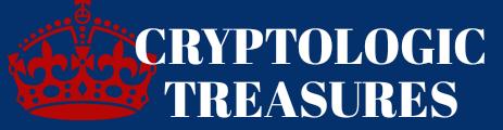virmuze exhibit Cryptologic Treasures logo main banner