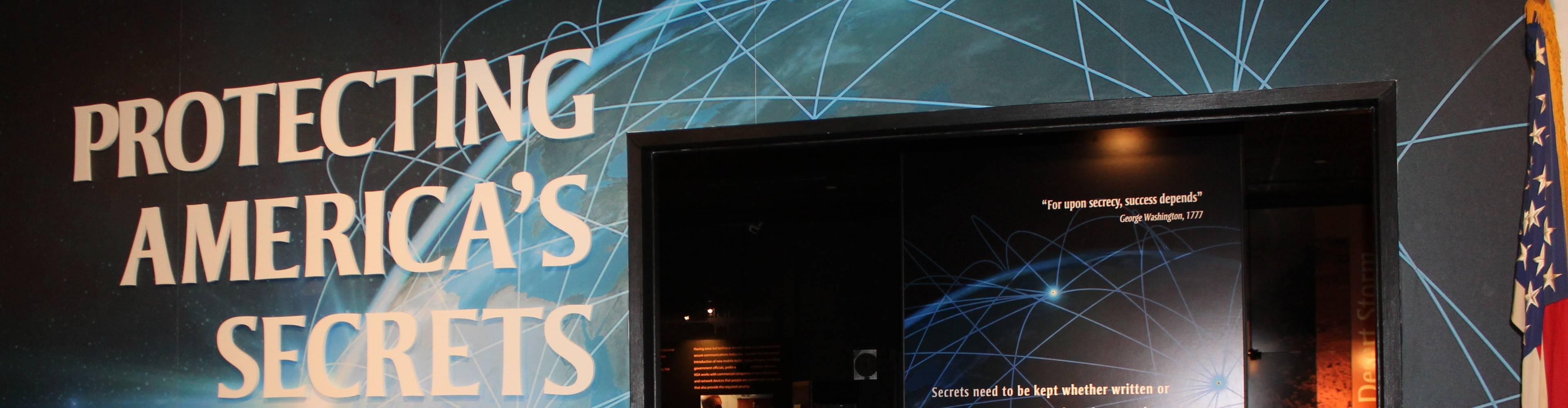 virmuze exhibit Protecting America´s Secrets logo main banner