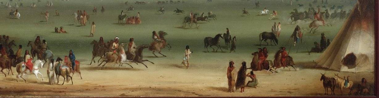 virmuze exhibit A Fur Trade Diary, Painted By Alfred Jacob Miller logo main banner