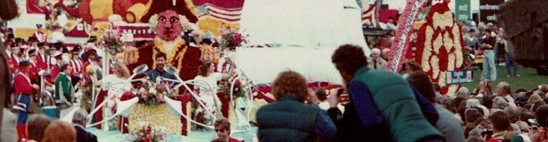 virmuze exhibit Spalding Flower Parade logo main banner